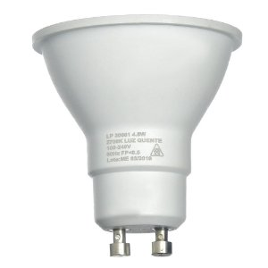 Lâmpada LED Dicroica MR16 4,8w Branco Quente | Inmetro