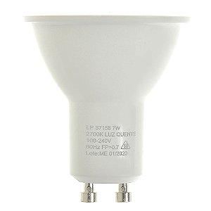Lâmpada LED Dicroica MR16 7w Branco Quente | Inmetro
