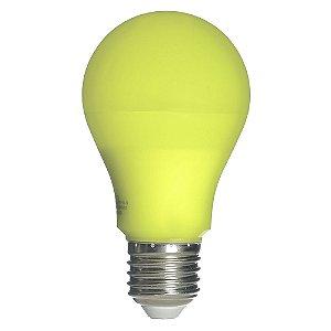 Lâmpada LED Bulbo Repelente 9W E27 Bivolt Amarela | Inmetro