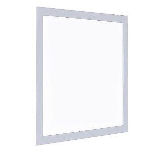 Luminária Plafon 40x40 LED 36W Embutir Branco Frio Cinza