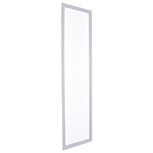 Luminária Plafon 30x120 LED 48w Embutir Branco Frio Cinza