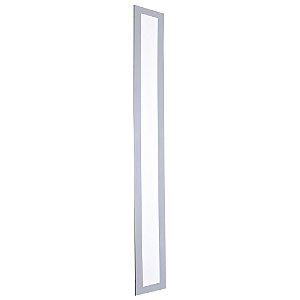 Luminária Plafon 15x120 LED 30w Embutir Branco Frio Cinza
