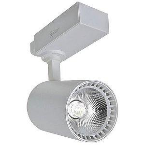 Spot LED 20W Branco Frio para Trilho Eletrificado Branco
