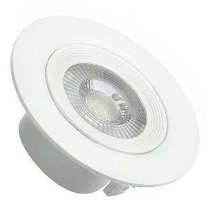 Spot LED 7W SMD Embutir Redondo Branco Neutro Base Branca