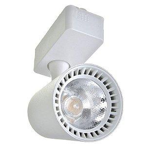 Spot LED 7W Branco Quente para Trilho Eletrificado Branco