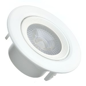 Spot LED 5W SMD Embutir Redondo Branco Neutro Base Branca