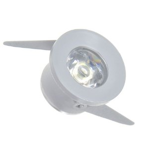 Mini Spot LED 1W COB Embutir Redondo Branco Frio Base Cinza