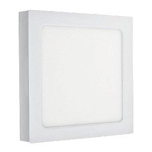 Luminária Plafon LED 16W Embutir/Sobrepor Quadrado 3 Cores de Luz