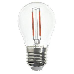 Lâmpada LED Bolinha Filamento E27 2w Vermelha | Inmetro