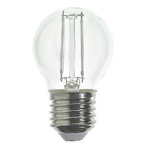 Lâmpada LED Bolinha Filamento E27 2w Azul| Inmetro