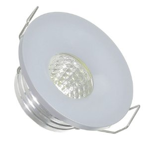 Mini Spot LED 3W COB Embutir Redondo Base Cinza