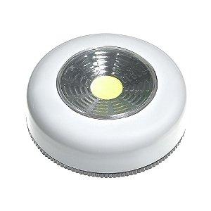 Luminária Spot LED 1,5W Touch Redonda Branca para Móveis