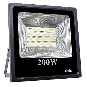 Refletor Holofote MicroLED Slim 200W Branco Frio - Pré-venda