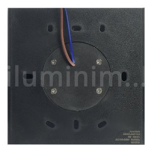 Luminária Arandela LED 3W Direcionável Branco Quente Preto