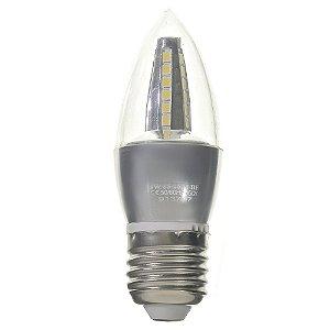 Lâmpada LED Vela Cristal E27 4W Bivolt Branco Frio | Inmetro