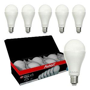 Pack 6 Lâmpada LED Bulbo 9W E27 Bivolt Branco Frio | Avant