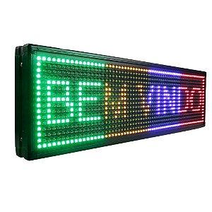 Painel Letreiro de LED Digital Personalizado 4 Cores 120x30