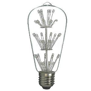 Lâmpada LED Pera 3 Estágios 3w Vintage ST64 Branco Quente | Inmetro