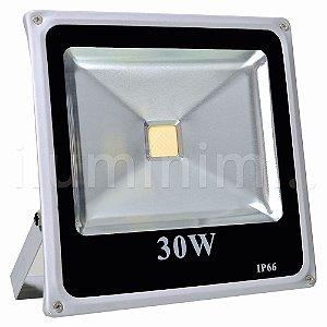 Refletor Holofote LED 30w Branco Quente