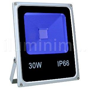 Refletor Holofote LED 30w Azul