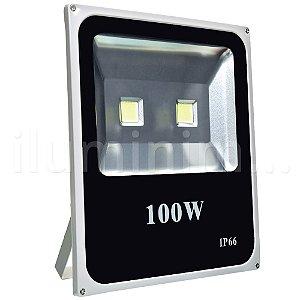 Refletor Holofote LED 100w Branco Frio