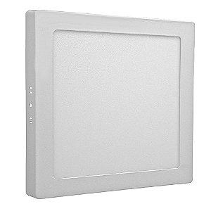 Luminária Plafon 18w LED Sobrepor Branco Frio