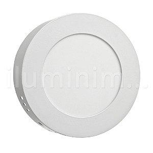 Luminária Plafon 6w LED Sobrepor Branco Frio