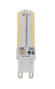 Lampada LED Halopin G9 5w Branco Quente 110V | Inmetro