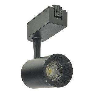 Spot LED 7W Branco Quente para Trilho Eletrificado Preto