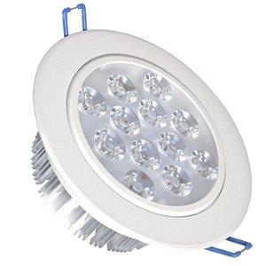 Spot Dicróica 12w LED Direcionável Corpo Branco