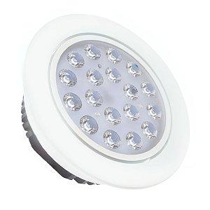 Spot Dicróica 18w LED Direcionável Corpo Branco