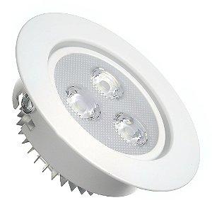 Spot Dicróica 3w LED Direcionável Corpo Branco