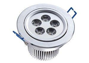 Spot Dicróica 5w LED Direcionável Corpo Aluminio Frio