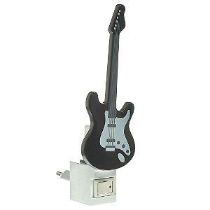 Luminária LED Abajur Guitarra 1W Luz Noturna