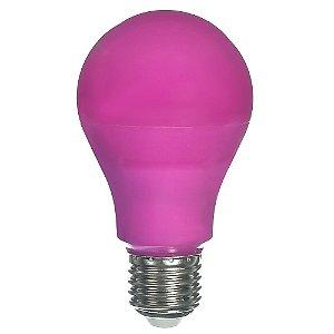 Lâmpada LED Bulbo 6W E27 Rosa Bivolt