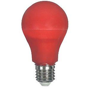Lâmpada LED Bulbo 6W E27 Vermelho Bivolt