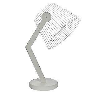 Luminária LED Abajur 5W Branco Quente Cor Branco