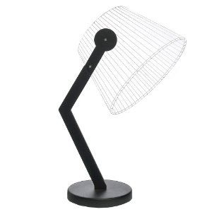 Luminária LED Abajur 5W Branco Quente Cor Preto