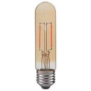 Lampada LED Tubular T30 2W Vintage Carbon | Branco Quente | Inmetro