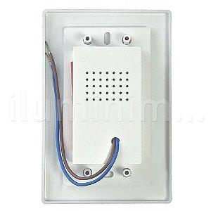 Balizador LED 2W De Embutir Retangular Branco Quente Branco