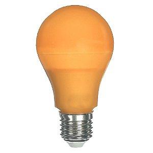 Lâmpada LED Bulbo 6W E27 Laranja Bivolt