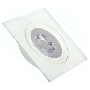 Spot LED 12W SMD Embutir Quadrado Branco Neutro Base Branca