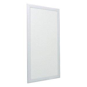 Luminária Plafon 30x60 24w LED Embutir Branco Frio Borda Branca