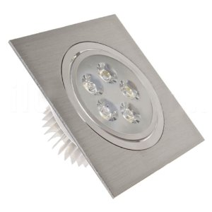 Spot 5W Dicróica LED Direcionavel Base Alumínio