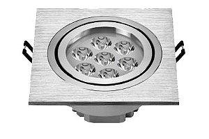 Spot 7W Dicróica LED Direcionavel Base Alumínio