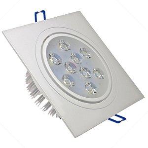 Spot 9W Dicróica LED Direcionavel Base Branca