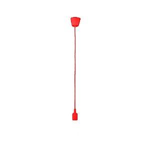 Pendente Silicone Vermelho E27