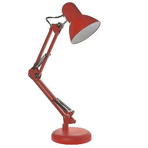 Luminária de Mesa Articulada Vermelho