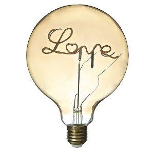 Lâmpada LED 4W Love Vintage Branco Quente