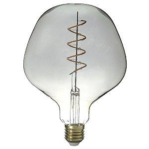 Lâmpada LED 4w Vintage Fumê P130 Branco Quente